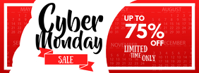 Red and White Cyber Monday Facebook Cover Photo