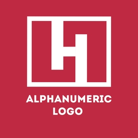 red and white h alphanumeric logo