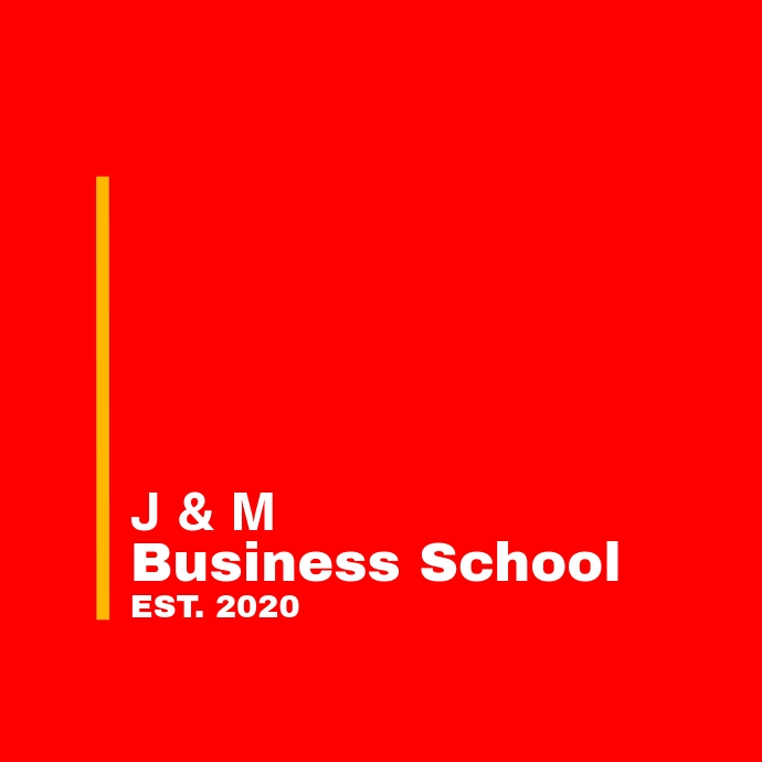 Red and white school logo