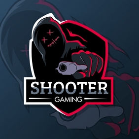 Red and White Shooter Esports Team Logo