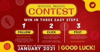 Red and Yellow Social Media Contest Facebook template