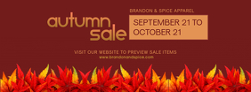 Red Autumn Retail Discount FB Cover Template