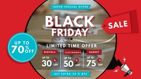 Red Black Friday Retail Sale Signage