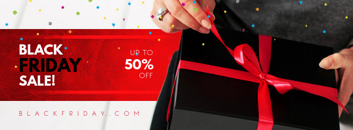 Red Black Friday Sale Facebook Cover template