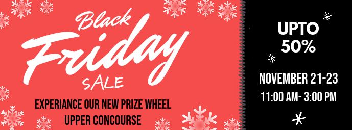 Red Black Friday Winter themed Banner Template Fotografia de capa do Facebook
