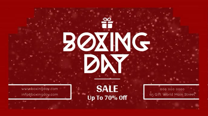 Red Boxing Day Sale Digital Display Video