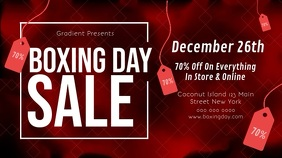 Red Boxing Day Sale Landscape Video