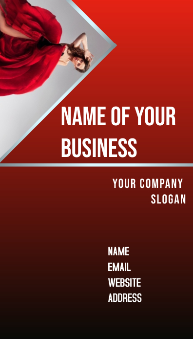 Red Business Card Template Postermywall