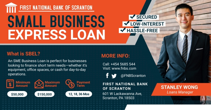 Red Business Loan Firm Facebook Post Template