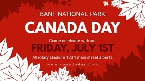 Red Canada Day Facebook Video Cover
