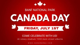 Red Canada Day Video Banner template