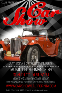 Red Car Show Poster Template