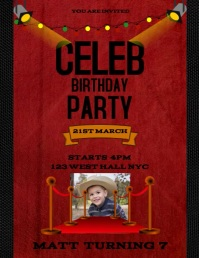 RED CARPET CELEBRITY PARTY FLYER
