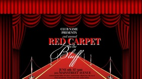 RED CARPET EVENT VIDEO AD TEMPLATE Ekran reklamowy (16:9)