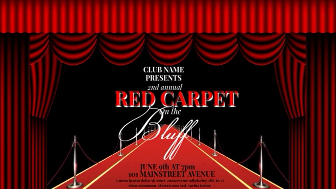 RED CARPET EVENT VIDEO AD TEMPLATE