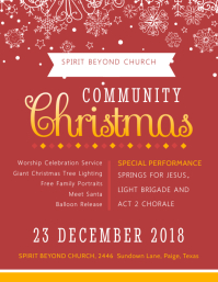 Red Christmas Community Event Invitation