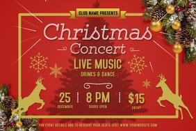 Red Christmas Concert Landscape Poster