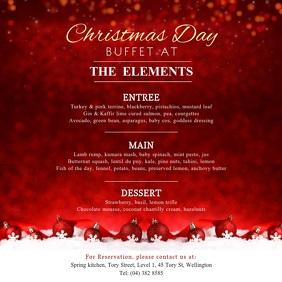 Red Christmas Menu Square Video template