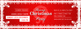 Red Christmas Party Facebook Cover Photo template