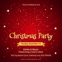 Red Christmas Party Social Media Invitation Message Instagram template