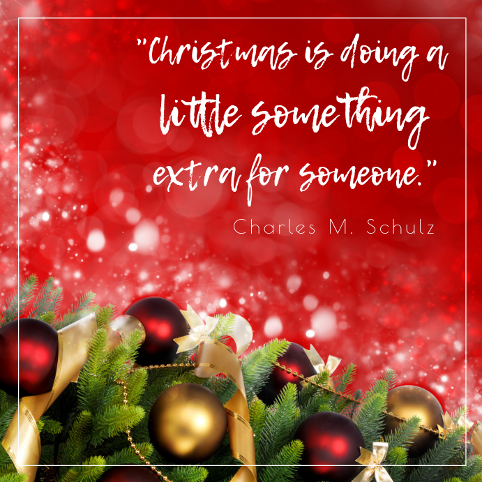 Red Christmas Quote Instagram