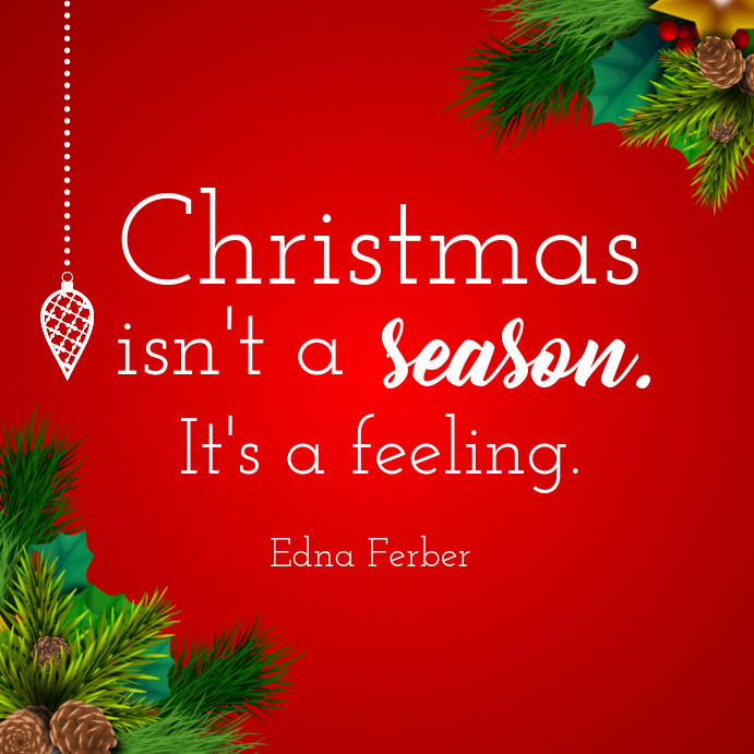 Red Christmas Quote Instagram Post
