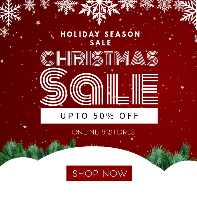 Red Christmas Sale Video Template