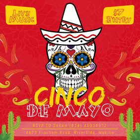 Red Cinco de Mayo Fiesta Ad