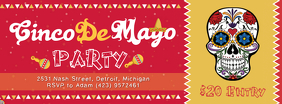 Red Cinco de Mayo Party Banner