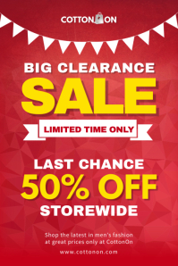 Red Clearance Sale Poster