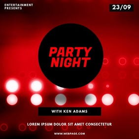 Red Club party flyer template