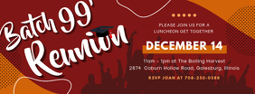 Red College Reunion Party Banner