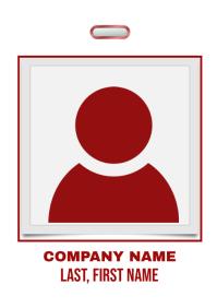 Red Company Badge