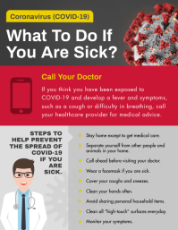 Red Coronavirus Awareness Flyer