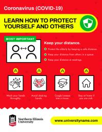 Red Coronavirus Prevention Flyer