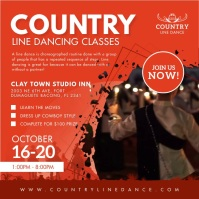 Red Country Line Dance Classes Instagram Vide Wpis na Instagrama template