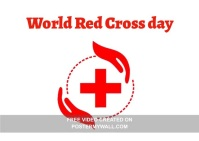 Red Cross Day Postkort template