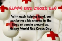 Red Cross day Poster template