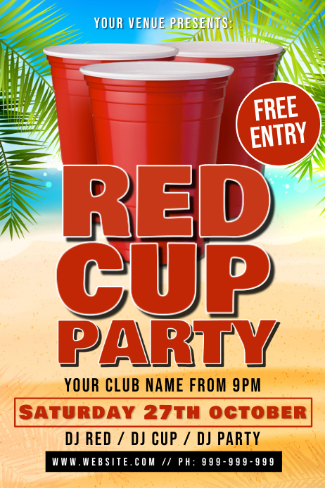 Red Cup Party Poster