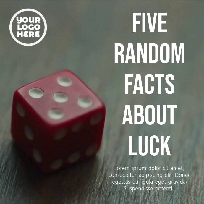 Red Dice Number Five Post Template