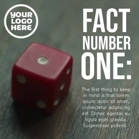 Red Dice Number One Post Template