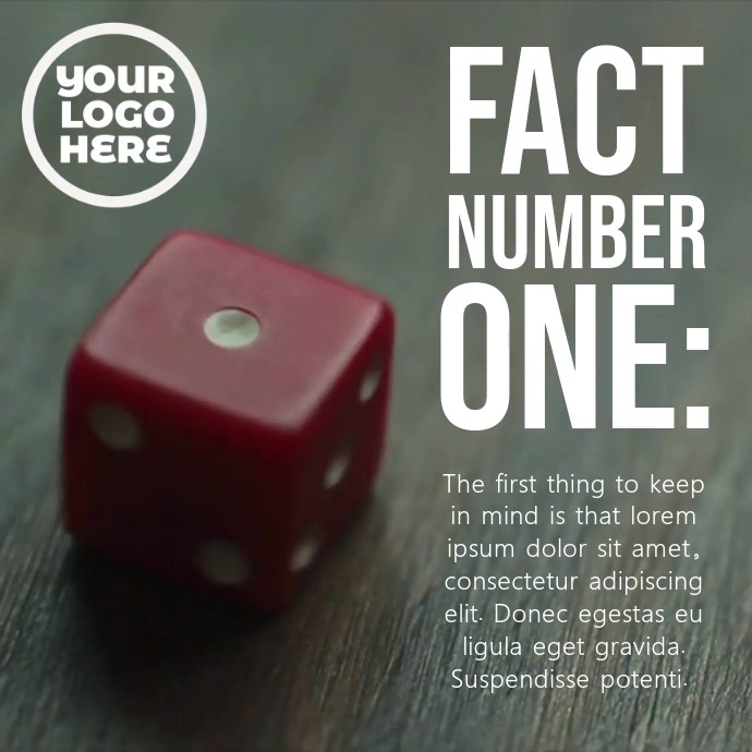 Red Dice Number One Post Template Instagram-opslag