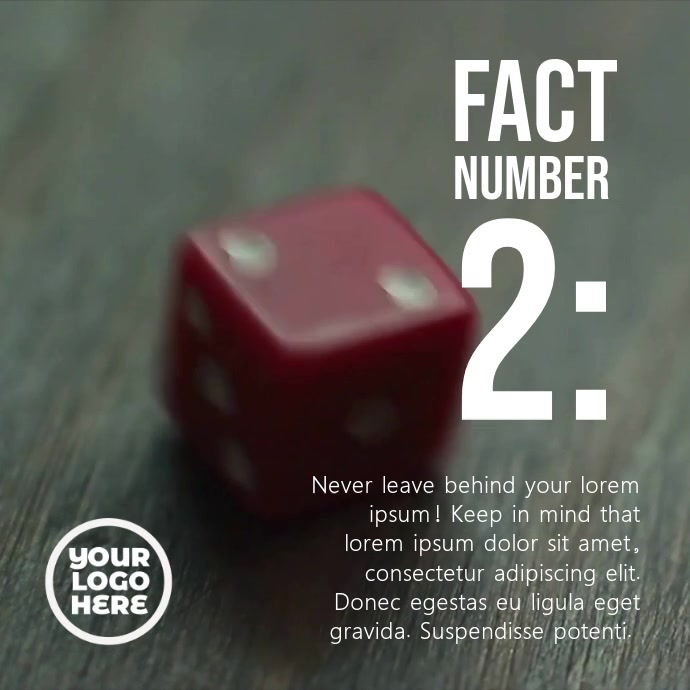 Red Dice Number Two Post Template