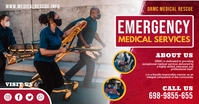Red Emergency Medical Services Facebook Post template