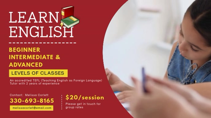 Red English Tuition Services for Perschool Ba
