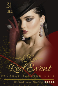 Red Event Template