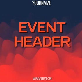 RED EVENT VIDEO AD online SOCIAL MEDIA Square (1:1) template