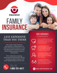 Red Family Insurance Flyer Pamflet (VSA Brief) template