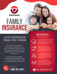 Red Family Insurance Flyer