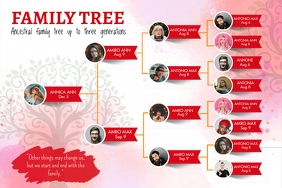 Red Family Tree Custom Template